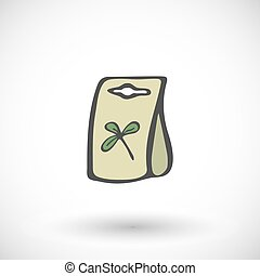 Seed packet. Vector illustration.