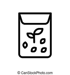seed  thin line icon