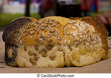 seeded loaf of bread.