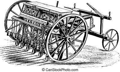 Seeder Smyth, vintage engraving. - Seeder Smyth, vintage...