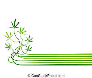 Seedlings - Abstract editable vector background of plants ...