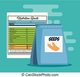 seeds bag with nutrition facts