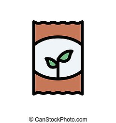seeds  flat color icon