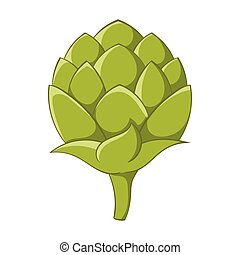 Seeds hops icon, cartoon style - Seeds hops icon in cartoon ...