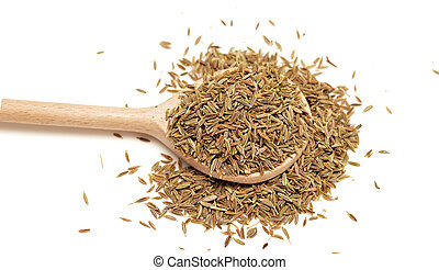 cumin - seeds of cumin isolated on white background