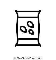 seeds  thin line icon