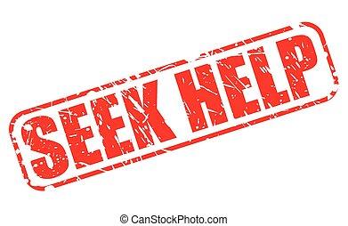 SEEK HELP red stamp text