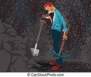Seeker in a cave