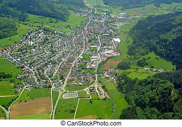 Seelbach aerial - aerial view of Seelbach located in the...