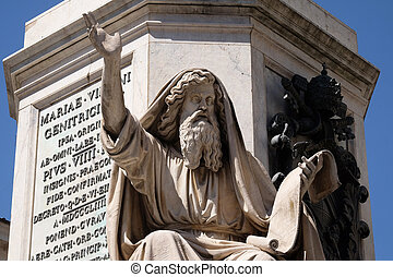 Seer Ezekiel by Carlo Chelli, Column of the Immaculate ...