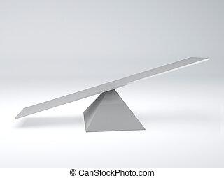 seesaw. Balance concept - image of white seesaw. balance...