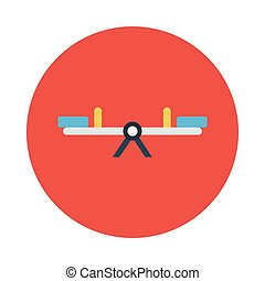 seesaw flat icon