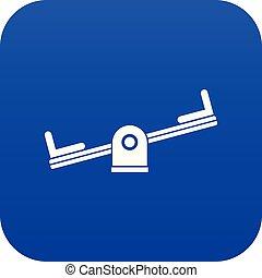 Seesaw icon digital blue