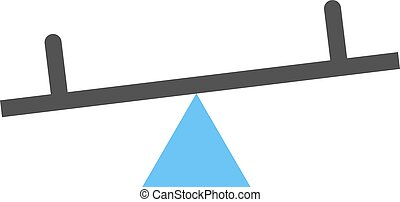 Seesaw, kids, playground icon vector image. Can also be used...