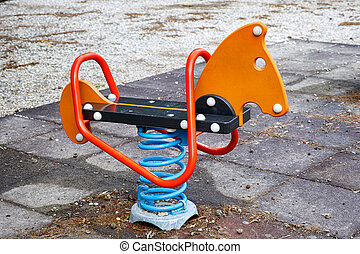 Seesaw on child playground