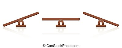 Seesaw Wooden Balance Scale - Seesaw or wooden balance scale...