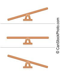 Seesaw Wooden Board - Seesaw or wooden balance scale -...