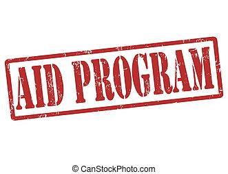 segély, program, bélyeg