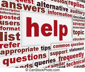segítség, üzenet, háttér