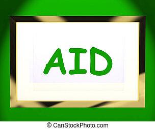 segítség, ellenző, segít, felkaroló, megkönnyebbülés, segély, vagy, látszik