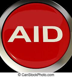 segítség, erőforrások, gombol, segít, segély, vagy, kiszabadítás