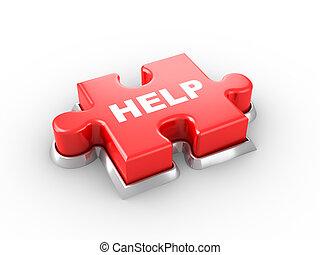 segítség gombolódik