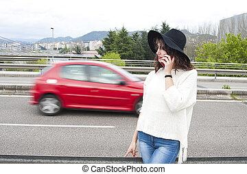segítség, országúti