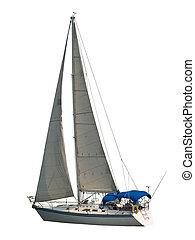 segelboot, freigestellt