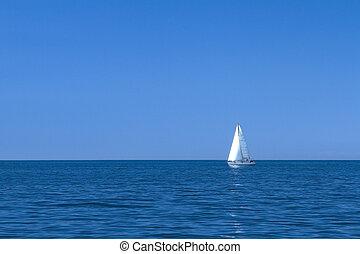 segelboot, mittelmeer