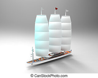 segelboot, reproduktion