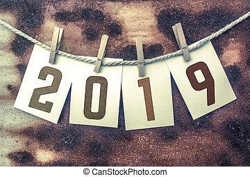segelgarn, begrepp, stampat, fastklämd, tema, 2019, kort