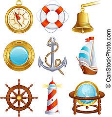 segeln, ikone