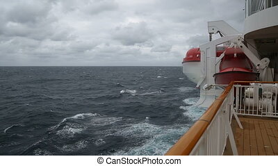 segeln, in, stürmisches meer
