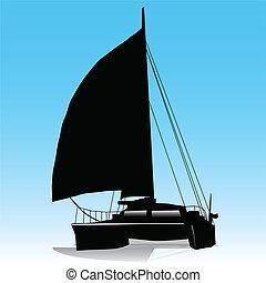 segeln, katamaran