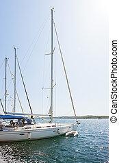 segeln, porto , sibenik, -, sibenik, kroatien, boote