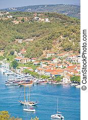 segeln, porto , skradin, -, skradin, kroatien, schiffe