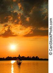 segeln sonnenuntergang