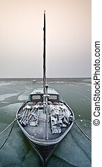 segeln, tag, kalte , winter, boot