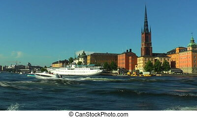 segeltörn, in, stockholm, schweden