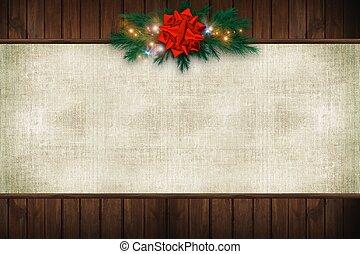 segeltuch, weihnachten, hintergrund