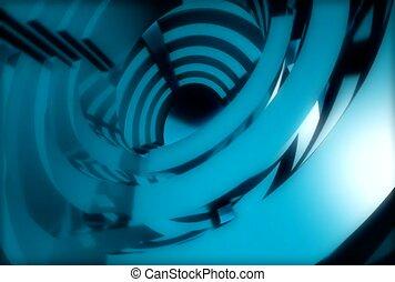 segment, blue, spin