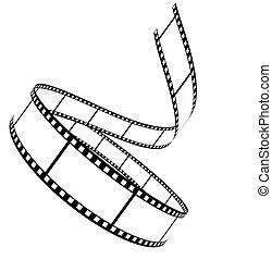 segment, leeg, film, omhoog gerold
