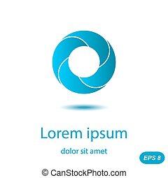 segmentar, círculo, concepto, logotipo