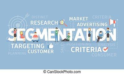 Segmentation concept illustration. Idea of criteria,...
