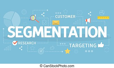 Segmentation in the business and marketing concept. Product...