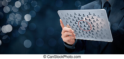 Segmentation - Marketing segmentation concept - businessman...