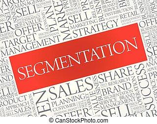 Segmentation word cloud, business concept background