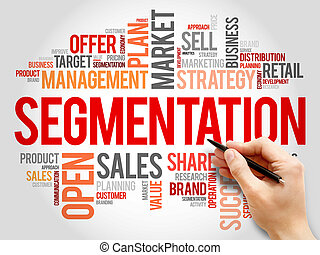 Segmentation word cloud