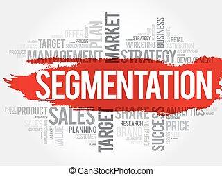 Segmentation word cloud, business concept