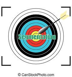 Segmentation word Vector, business concept.